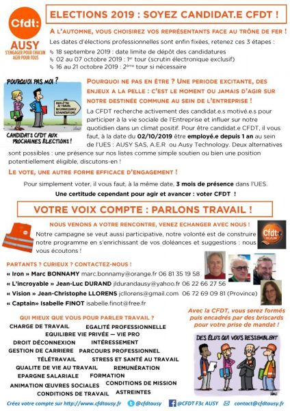 Tract-CFDT-AUSY-Aot-2019---Candidats-CSE---ExterieurPage1